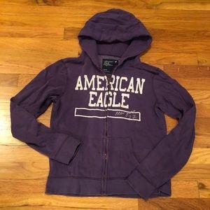 AMERICAN EAGLE DISTRESSED HOODIE